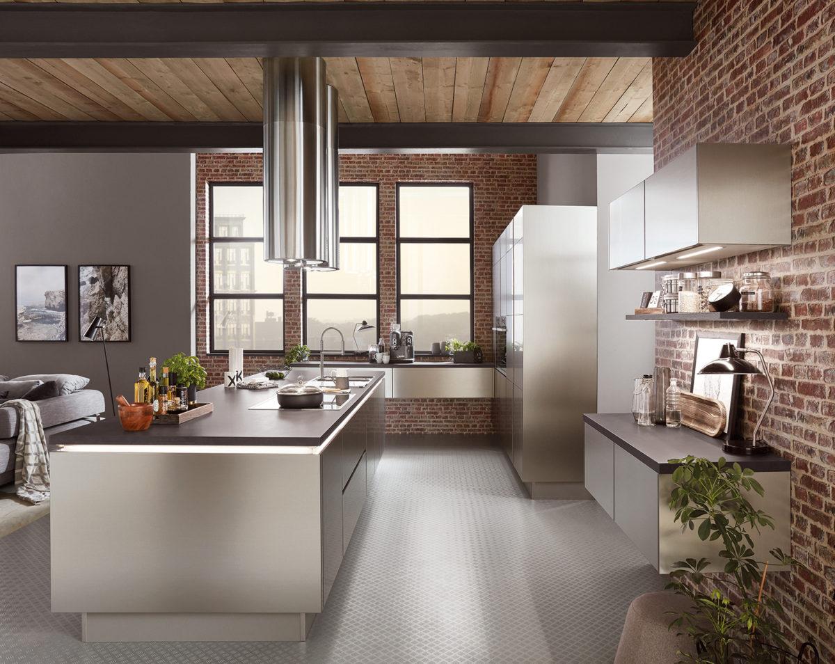 Tendencias cocina 2020 - diseño de acero