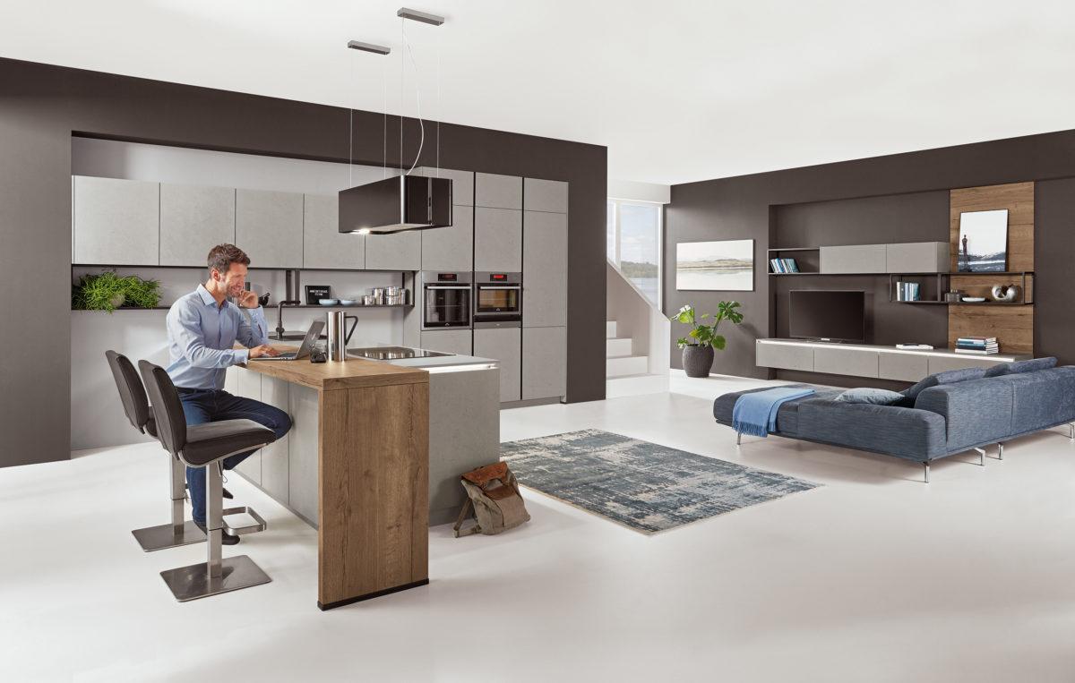 Tendencias cocina 2020 - gris cemento